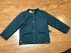 BOYS GIRLS UNISEX USED BURBERRY BLACK QUILTED NOVA CHECK JACKET SIZE YOUTH 3Y