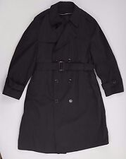 DSCP US ARMY Black All Weather Trench Coat Military - With Liner - MEN'S 42 S XL