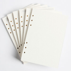 Classic A5 A6 Holes Binder Notebook Refilling Replacements Inner Paper Core