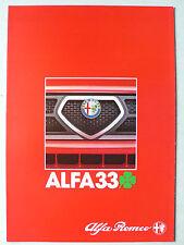 Prospekt Alfa Romeo 33 Quadrifoglio verde, 5.1984, 8 Seiten, folder
