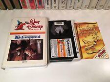 * Kidnapped Family Adventure Betamax Not Vhs 1960 Walt Disney Peter Finch Beta