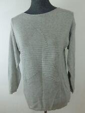 ♥ Italy Pullover Damen Feinstrick Pulli 3D Muster Stern CAMEL braun 38 40 42 S M