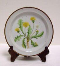 """Dandelion Salad Dessert Plate  8"""" Brown Speckled No. 206 Japan Vintage"""