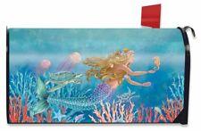 Mermaid Summer Magnetic Mailbox Cover Nautical Fish Standard Briarwood Lane