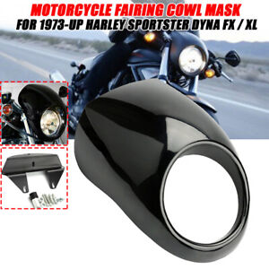 "Motorcycle 5.75"" Headlight Cowl Fairing Mask For Harley Sportster Dyna 73-UP"