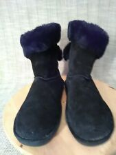 LAMO ESSENTIAL  WOMEN'S  WINTER SUEDE LEATHER BLACK MID-CALF BOOTS SIZE 10