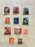 UNC Nazi Germany & NAZI Croatia WW2  Third Reich  Hitler Swastika Stamp  WW2 lot