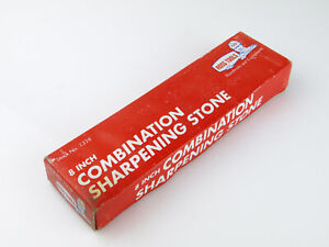"""Ross Tools 8"""" Inch Combination Sharpening Stone with Box No.1328"""