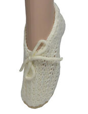 Ladies Cream Comfy Traditional Slipper Socks Bargain Price Christmas