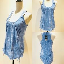 Ladies NEXT Cream Shimmer Crushed Velvet Ruched Style Vest Top Summer Holiday 8