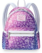 More details for disney parks loungefly park icons backpack purple and pink new rare