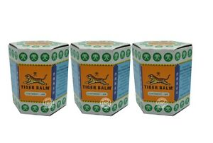 3 x 30g Tiger Balm White Relief Muscular Aches Pain Sprains Ointment  Adult Herb