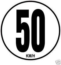 1 Limitation de Vitesse Autocars Tracteur Poids lourd 50KM/H adhésifs