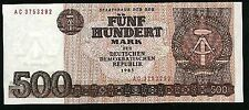 GERMANY DDR BANKNOTE 500 MARK , 1985 YEAR PIC#33 UNC