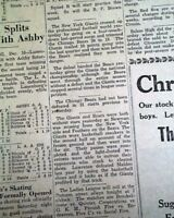 """""""SNEAKERS GAME"""" New York Giants NFL Football CHAMPS Chicago Bears 1934 Newspaper"""