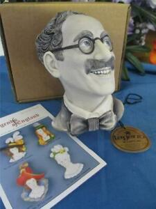 Legends Groucho Marks Marx Wall Mask England F Wright Bossons Chalkware RARE
