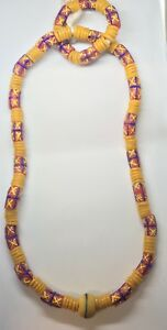13 inches African Necklace and Bracelet  Bead Ghana Multicolor Mixed  Marriage