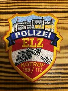 AUSTRIA PATCH POLICE POLIZEI - ELZ NOTRUF 133 / 112 - ORIGINAL!