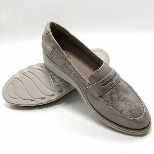 ✅💟✅@ Clarks Collection Sharon Shimmer Loafers 10 M Eu41.5 Wedge MSRP $109 NWOB