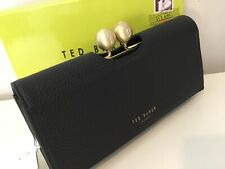 Ted Baker JOSIEY Black Textured Leather Bobble Matinee Large Purse BNWTS GIFT