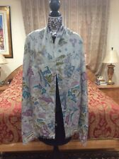 ICONIC LUXE LORO PIANA pastel colors ornamental cashmere/silk scarf/shawl
