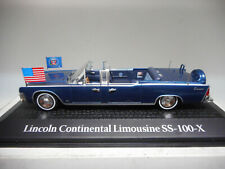 LINCOLN CONTINENTAL LIMOUSINE SS-100-X ASESINATO J.F. KENNEDY 1963 ATLAS 1:43