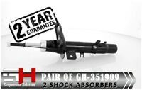 2 NEW FRONT SHOCK ABSORBERS FOR CITROEN C-ELYSEE, PEUGEOT 301/GH-351909P/