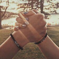 Partnerarmband ♥ Buchstabe Initialien Freundschaft silber Paare Liebe Geschenk