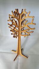 Arbre à bijoux 3D MDF,présentoir 25 cm x 15 cm x 3 mm, décoration arbre en bois