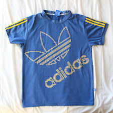 Adidas Star Wars Logo Spellout T Shirt Special Edition Mens M-L Blue Yellow Rare