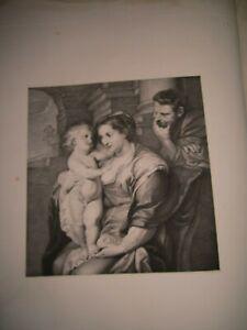 Stampe Antiche,1836:Sacra famiglia