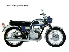 Motorcycle Canvas Picture Kawasaki Avenger 350 1967 Canvas 16x12 inch