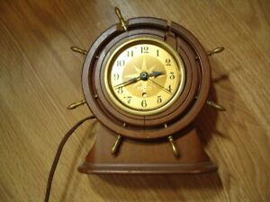 Seth Thomas Ship Helm's Wheel Electric Clock - No Glass parts-repair?
