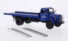 MERCEDES BENZ L3500 L 3500 Rennabteilung Pritsche blau Truck LKW Camion PC 1:43