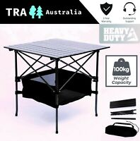 TRA HEAVY DUTY STEEL & ALUMINIUM FOLDING COLLAPSIBLE CAMPING TABLE CARAVAN RV
