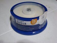25 Ativa Office Depot White Inkjet Printable DVD+R Discs Disk 16X 4.7GB 120mins