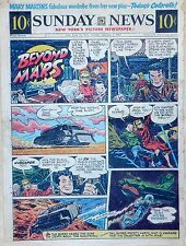 Beyond Mars by Jack Williamson - scarce full tab Sunday comic page Jan. 3, 1954