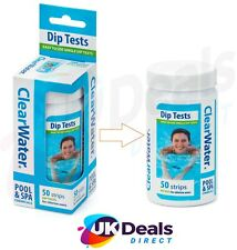 More details for clearwater chlorine dip test strips hot tub lay-z-spa swimming pool 50 ph strips