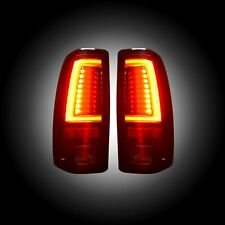 RECON 264373RBK Chevy Silverado GMC Sierra 99-07 Red-Smoked Tail Lights LED