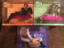 LOUNGE KITTIES Collection 3 Barbie Collector Doll Set NEW Rare MINT Feline Cat