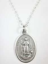"""St Raphael the Archangel Medal Pendant Necklace 20"""" Chain Gift Box Prayer Card"""