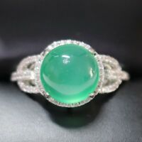 Gorgeous Emerald Ring Women Wedding Engagement Birthday Jewelry Gift