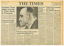 President Nixon Admits Cover up on Watergate White House Times May 23rd 1973 B1