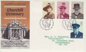 GB Stamps First Day Cover Centenary Birth Sir Winston Churchill SHS Initials 74