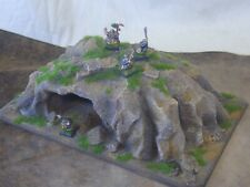 warhammer,  40K , Lord of  the Rings, etc terrain scenery hill /  cave / mine