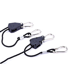 2 Pack 1/8 Inch 8 Feet Long Adjustable Heavy Duty Rope Clip Hanger 150lb Capacit