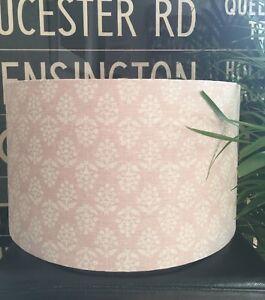 NEW HANDMADE LAMPSHADE IN SUSIE WATSON SPRIG FABRIC DUSKY PINK