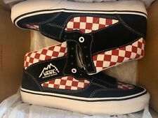Vans Checkerboard Mountain Edition Sneakers Shoes Black Red VN0A3TKG35U Sz 10.5