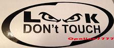 STICKER CASQUE moto LOOK DON'T TOUCH - NE PAS TOUCHER POUR YAMAHA HONDA TRIUMPH