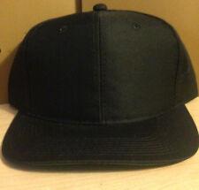 NEW Men's Black Pique Cloth Baseball Cap Hat Adjustable Ball Cap Ballcap